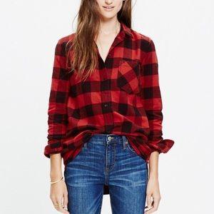 Madewell Ex-Boyfriend Buffalo Plaid Flannel Shirt